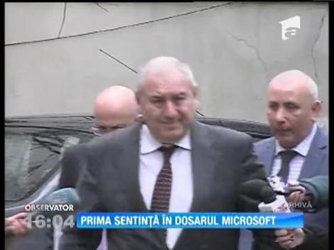 Dosarul Microsoft: Condamnări cu executare pentru Gheorghe Ștefan, Gabriel Sandu și Dorin Cocoș si cu suspendare pentru Nicolae Dumitru, în prima instanță