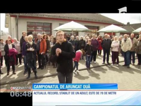 Campionatul de aruncat ouă colorate a avut loc în Germania