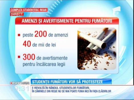 Studenţii din Bucureşti pornesc revoluţia. Au ieşit în stradă, pentru că nici în faţa căminelor nu mai pot fuma!