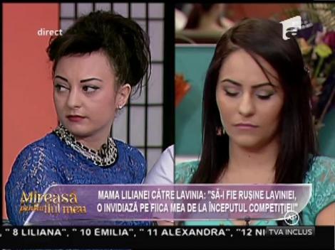 """Mama Lilianei sare la gâtul Laviniei: """"O invidiază pe fiica mea încă de la începutul competiției!"""""""