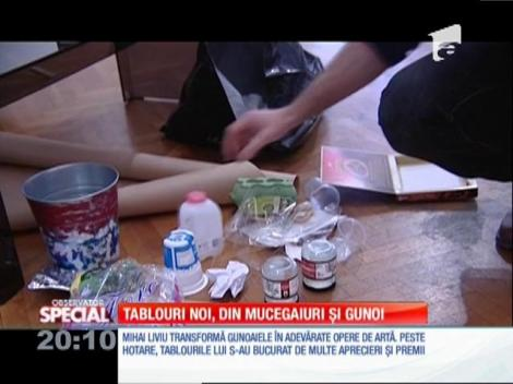 Special! Mihai Liviu transformă gunoaiele în adevărate opere de artă