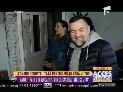 Leonard Doroftei, impresionat de povestea a patru frați, de lângă Ploiești