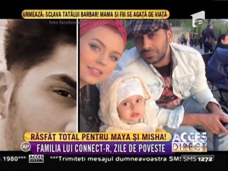 Connect R, Misha şi fiica lor Maya, răsfăț în parc