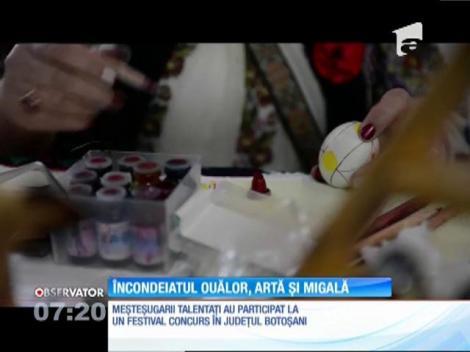 Un festival-concurs de încondeiat ouă a fost organizat la Botoşani