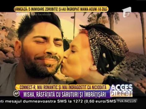 Misha, soţia lui Connect-R, răsfăţată cu sărutări şi îmbrăţisări