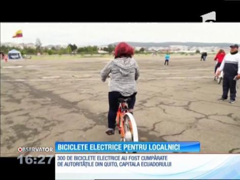 Biciclete electrice pentru localnicii din capitala Ecuadorului