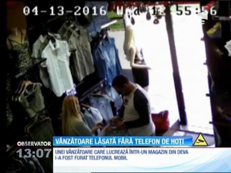 O vânzătoare din Deva a fost lăsată fără telefon de hoţi