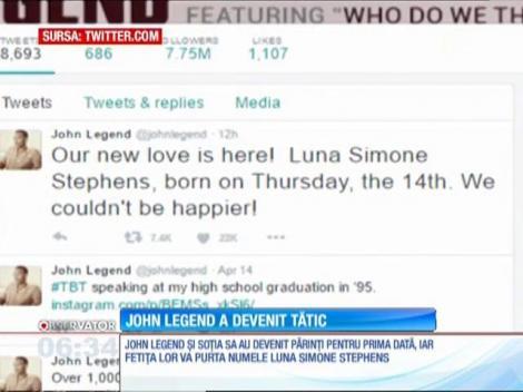 John Legend a devenit tată