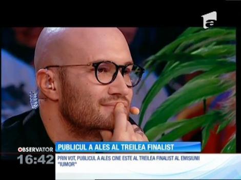 Publicul a decis. Al treilea concurent, care ajunge direct în finala emisiunii IUmor, este George Tănase