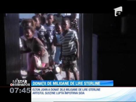 Elton John şi Joanne Rowling au făcut cele mai multe donatii în scopuri caritabile