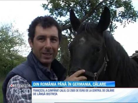 Un francez vrea să ajungă din România până în Germania călare pe un cal
