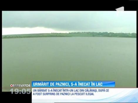 Un bărbat a murit înecat într-un lac din Călăraşi, în timp ce încerca să scape de doi paznici