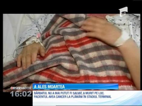 S-a aruncat în gol de la etajul patru al spitalului de boli de plămâni din Baia Mare