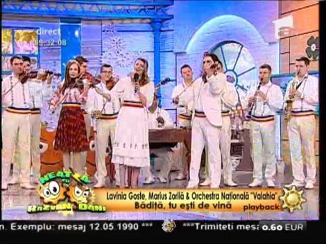 """Lavinia Goste, Marius Zorilă & Orchestra Naţională """"Valahia"""" - """"Bădiţă, tu eşti de vină"""""""