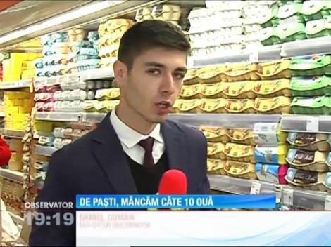 De Paşti, românii mănâncă, în medie, 10 ouă