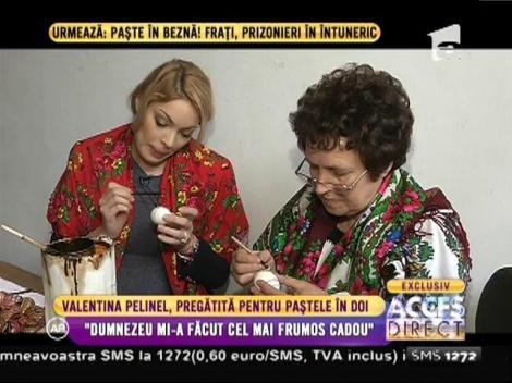 Valentina Pelinel, pregătită de Paștele în doi