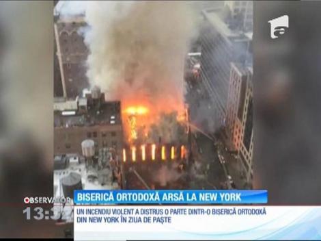 Un incendiu a distrus o parte dintr-o biserică ortodoxă din New York