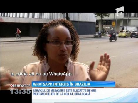 Serviciul de mesagerie WhatsApp, interzis în Brazilia