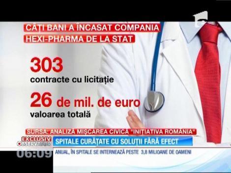 Dezinfectanţii de calitate îndoielnică folosiţi în majoritatea spitalelor din România, în continuare în unităţile sanitare