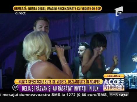 Nunta spectacol! Delia şi Răzvan şi-au răsfăţat invitaţii!
