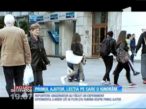 Doar 4 români dintr-o sută ştiu să aplice manevre de prim ajutor