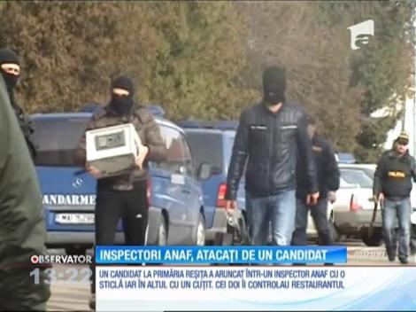 Inspectori ANAF, atacați de un candidat la primăria din Reșița