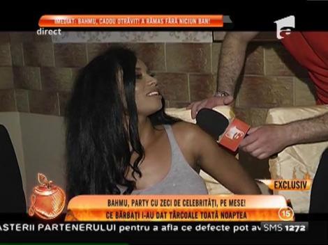 Adriana Bahmuţeanu, party cu celebrități, pe mese! Iată ce bărbați i-au dat târcoale toată noaptea