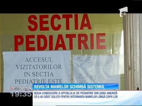Revolta mamelor schimbă regilile de la spitalul de Pediatrie din Sibiu