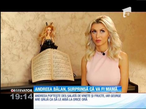 Andreea Bălan, surprinsă că va fi mamă