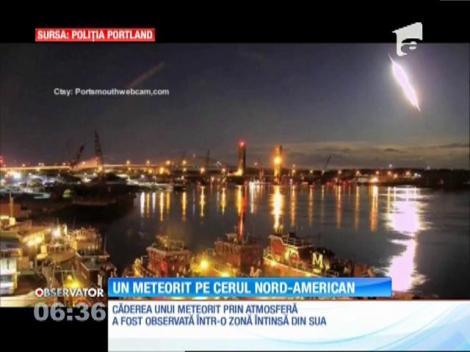 Explozie spectaculoasă a unui meteorit deasupra SUA