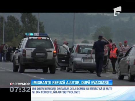 Imigranții din Grecia refuză ajutor, după evacuare