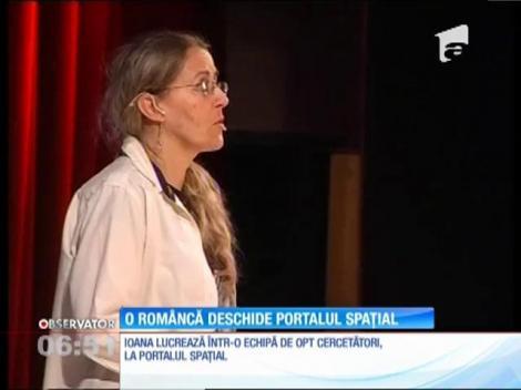 O româncă deschide portalul spațial NASA