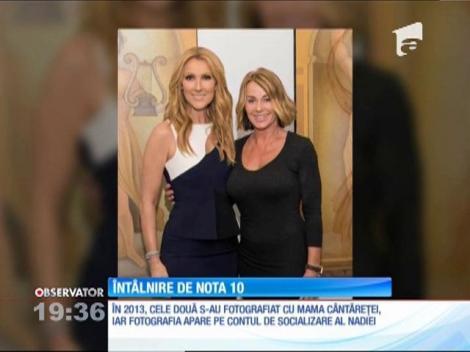 """Întâlnire de nota 10! Nadia Comăneci şi Celine Dion s-au distrat, împreună, la Los Angeles: """"Nadia mă inspiră!"""""""