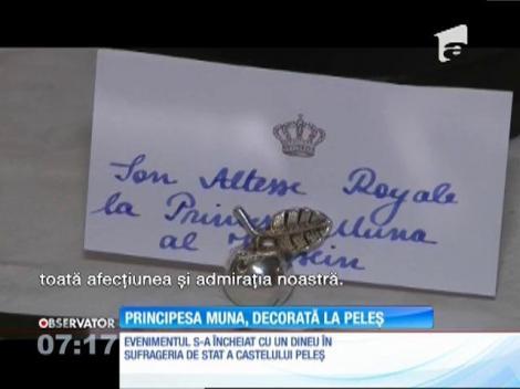 Principesa Muna, mama suveranului haşemit al Iordaniei, decorată cu Marea Cruce a Ordinului Coroana României