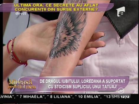 Loredana și-a tatuat inițiala prenumelui viitorului ei copil!