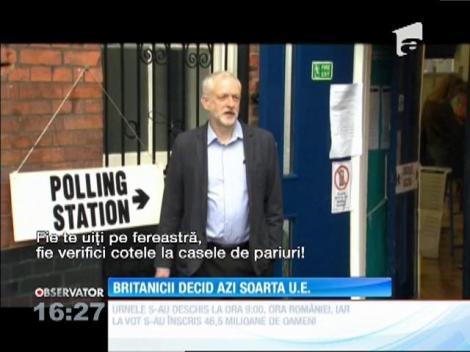 Britanicii decid dacă Regatul Unit iese din Uniunea Europeană