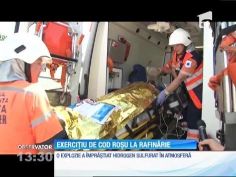 Simulare de explozie şi incendiu la o rafinărie din Ploieşti
