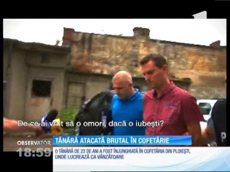 O tânără din Ploieşti a fost înjunghiată în cofetăria unde lucrează