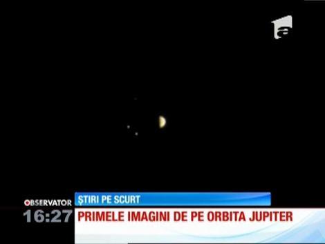 Prima fotografie realizată de Juno de pe orbita lui Jupiter