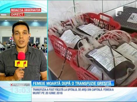 Femeie moartă după o transfuzie greşită