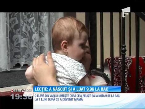 Maria Elisa a născut cu şapte luni înainte de Bacalaureat. S-a dus la examen și luat 9,93, a treia medie din judeţ! Ce planuri de viitor are mămica eminentă
