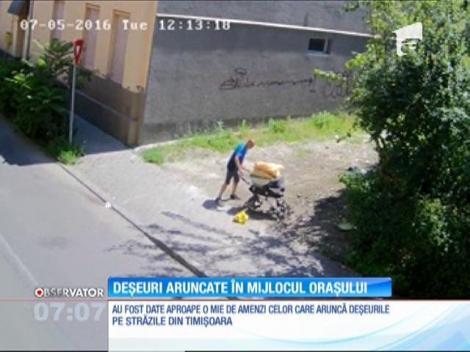 Poliţiştii locali din Timişoara au dat aproape o mie de amenzi celor care aruncă saci cu gunoaie la întâmplare