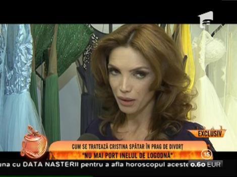 """Cristina Spătar, zâmbitoare în prag de divorț: """"Nu mai port inelul de logodnă"""""""