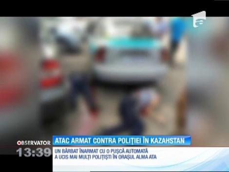 Un bărbat a împuşcat cel puţin şapte agenţi la o secţie de Poliţie din Kazahstan