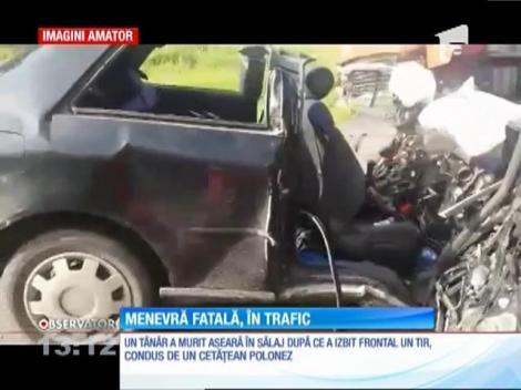 Un tânăr din judeţul Satu Mare a murit la volan după o manevră neregulamentară