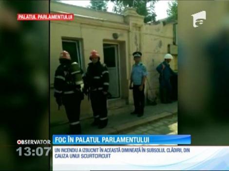 Foc în Palatul Parlamentului
