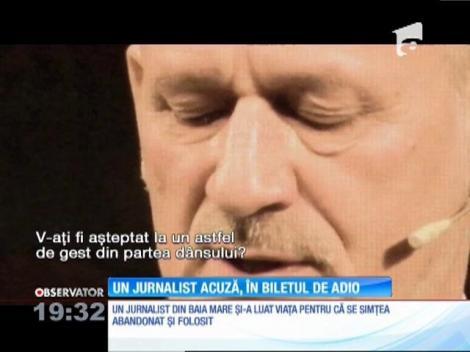 Un jurnalist cunoscut din Baia Mare s-a sinucis pentru că se simţea folosit şi abandonat