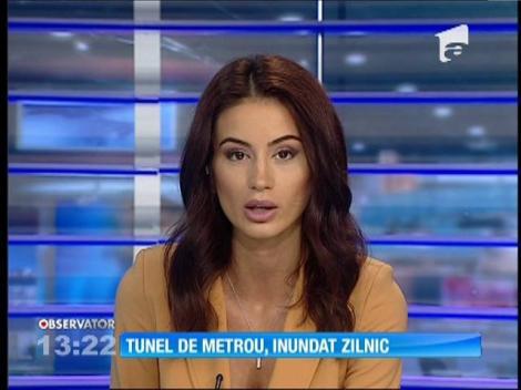 Tunelul de la staţia de metrou de la Eroilor, inundat zilnic
