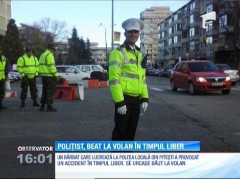 Polițist din Pitești, beat la volan în timpul liber