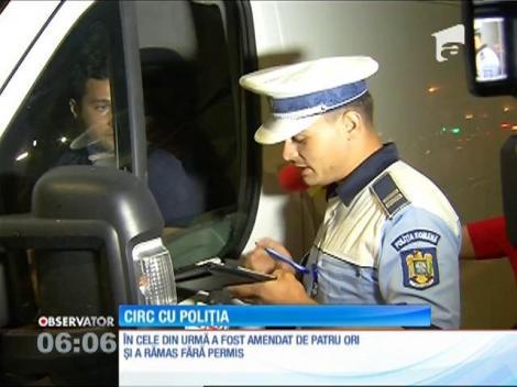 Scandal cu Poliţia în centrul Capitalei! Un şofer a fost amendat de patru ori şi a rămas fără permis